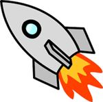 gray rocket ship