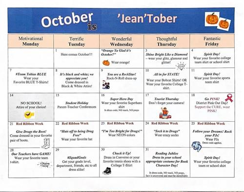 October Theme Days