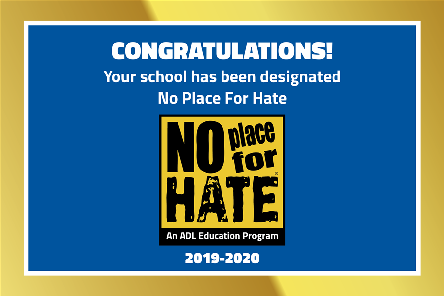 No Place for Hate Banner 19-20
