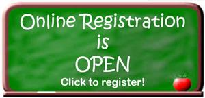 Online registration is open. Click to register students for 2018-2019 school year.