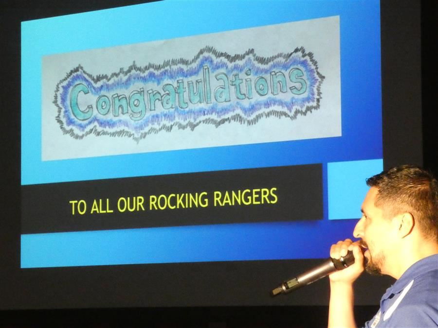 Mr. Gonzalez at the Rocking Ranger celebration