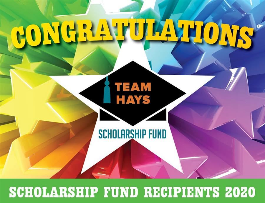 Team Hays Scholarships 2020 graphic