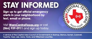 Warn Central Texas graphic