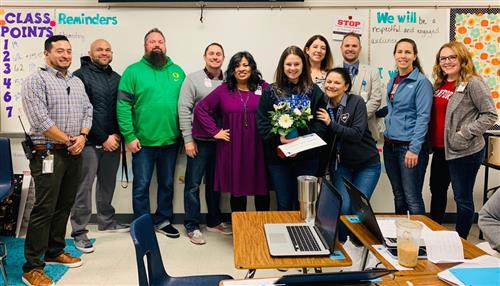 Ms. Villarreal Teacher of the Month