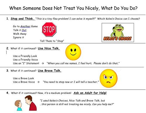 steps for handling when someone does not treat you nicely