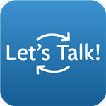 Button that says Let's Talk which is a link to a dialogue submission feature on the website