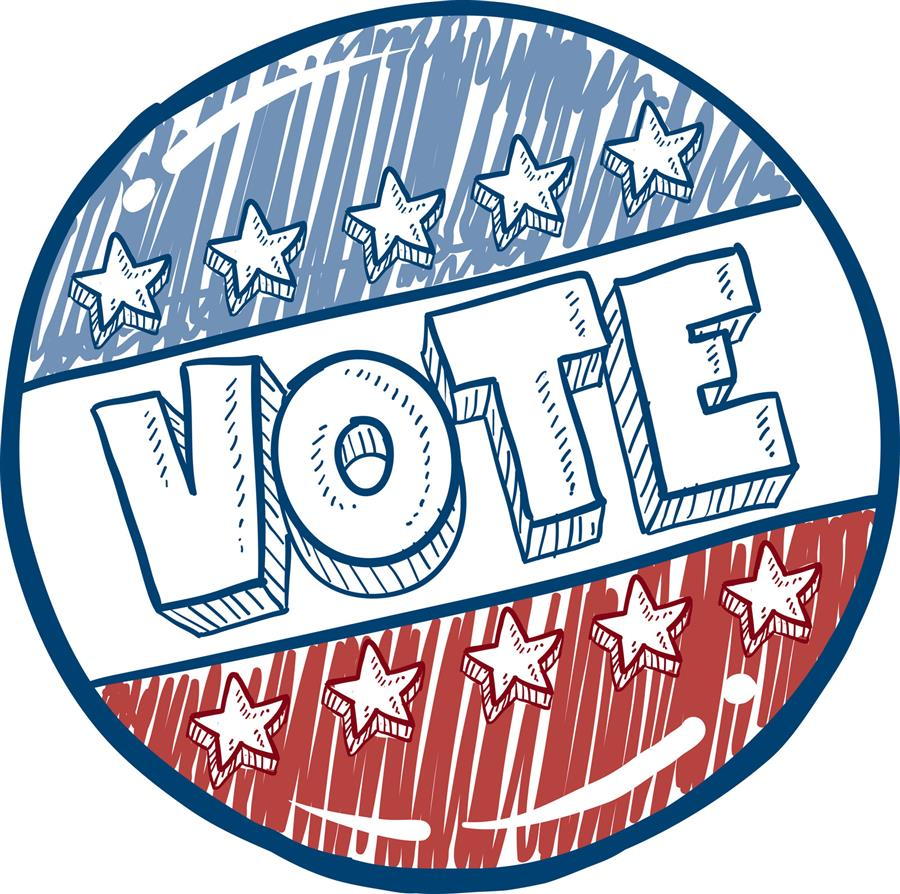 decorative photo of a vote sticker