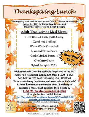 Thanksgiving Flyer with Leaves and Details links to print