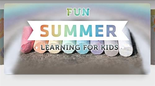 decorative picture that says fun summer learning for kids