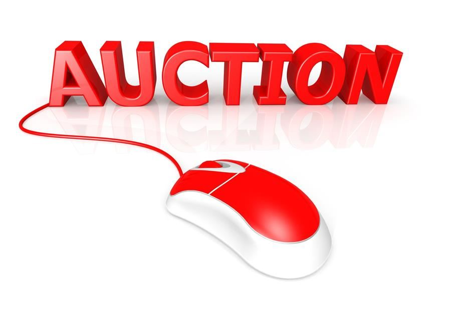 computer mouse/online auction graphic