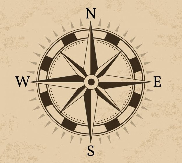 decorative navigate-compass graphic
