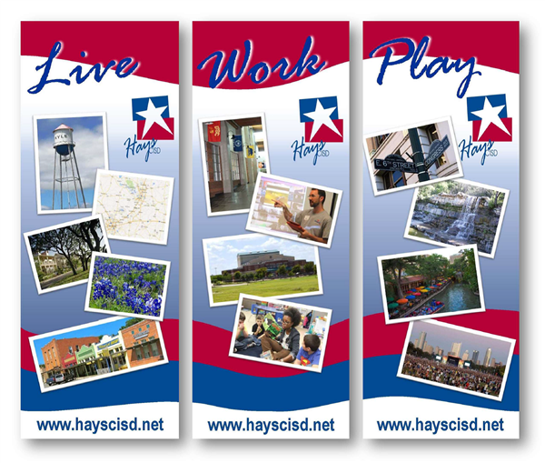 picture of Hays CISD recruitment banners