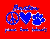 Peace, Love & Bobcats graphic
