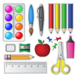 school supply graphic