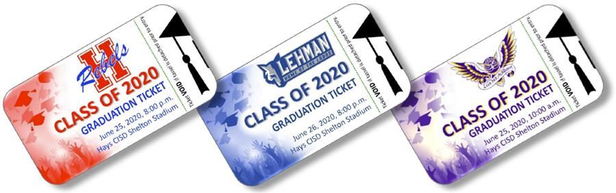 decorative photo of graduation tickets