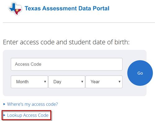 link to Texas Assessment Data Portal