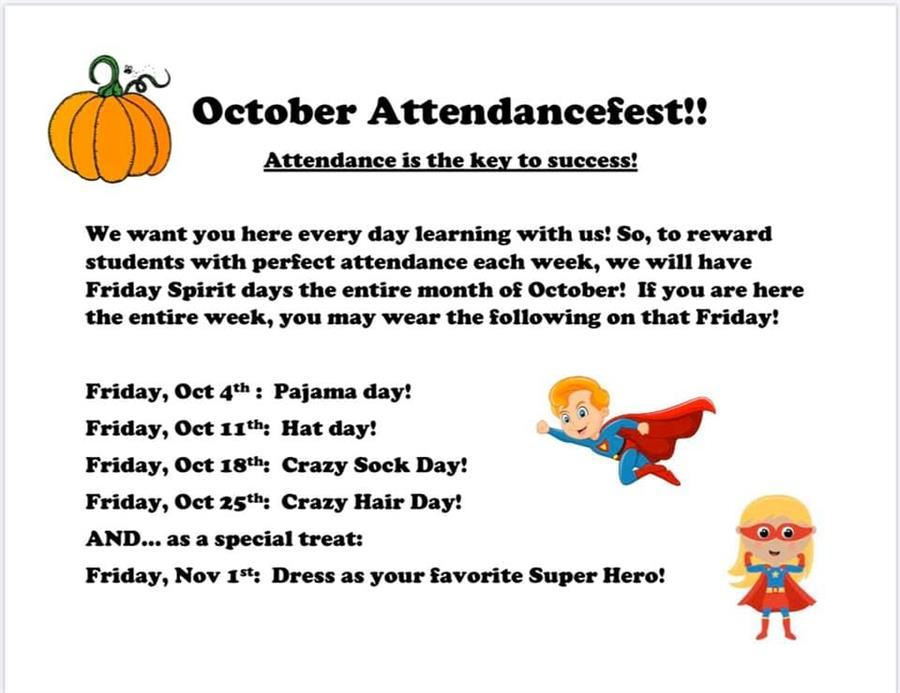 October Attendance Incentives